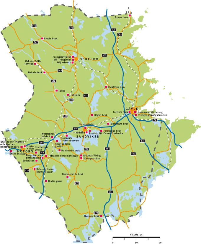 karta över hofors