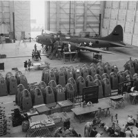 B-17F Flying Fortress at Douglas Aircraft's Long Beach Plant (1)